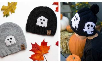 Ghost Hat Free Knitting Pattern