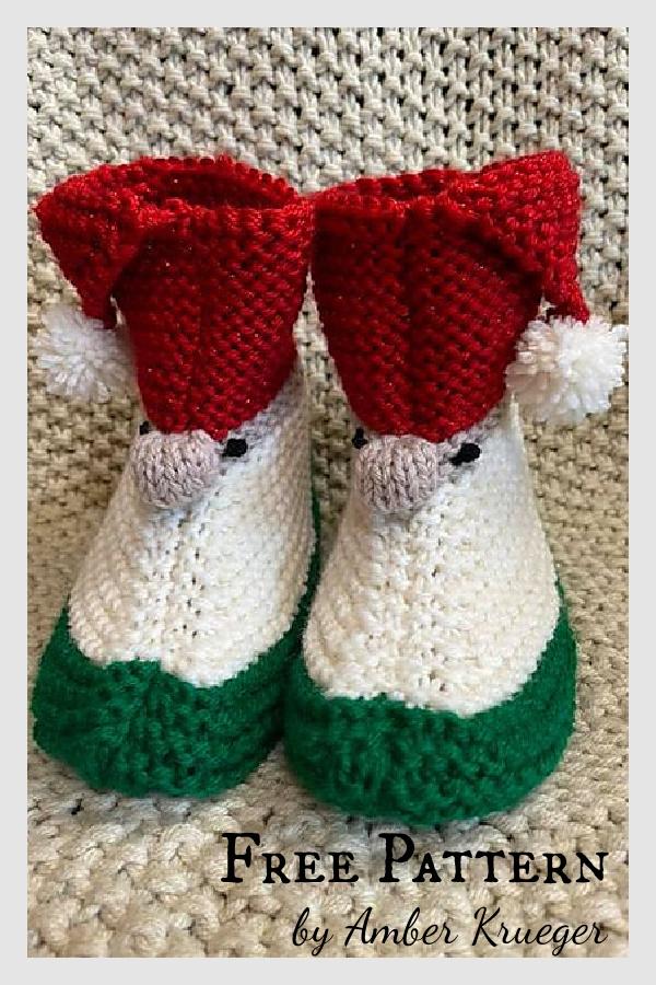 Patron de tricot gratuit pour pantoufles Gnome