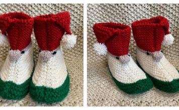 Gnome Slippers Free Knitting Pattern