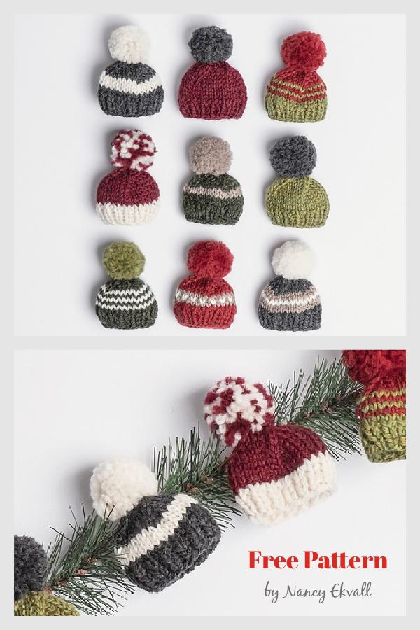 Holiday Mini Hat Free Knitting Pattern