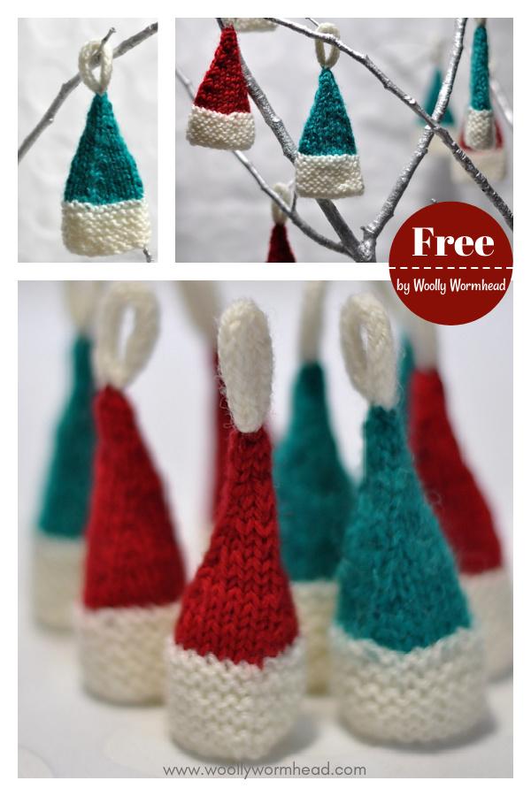 Mini Elf Hat Free Knitting Pattern