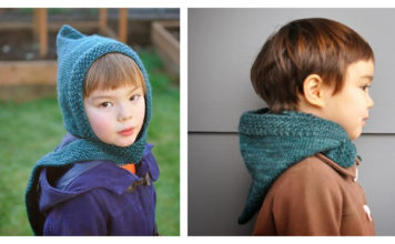 Pixie Scarf Hat Free Knitting Pattern