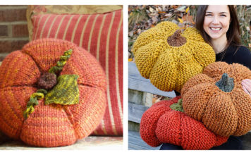 Pumpkin Pillow Knitting Pattern