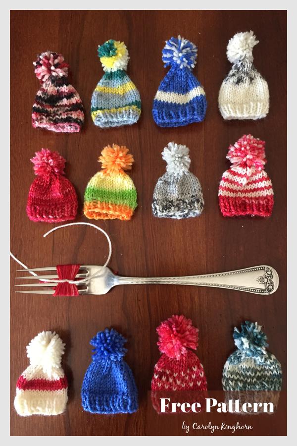 Stocking Cap Ornament Free Knitting Pattern